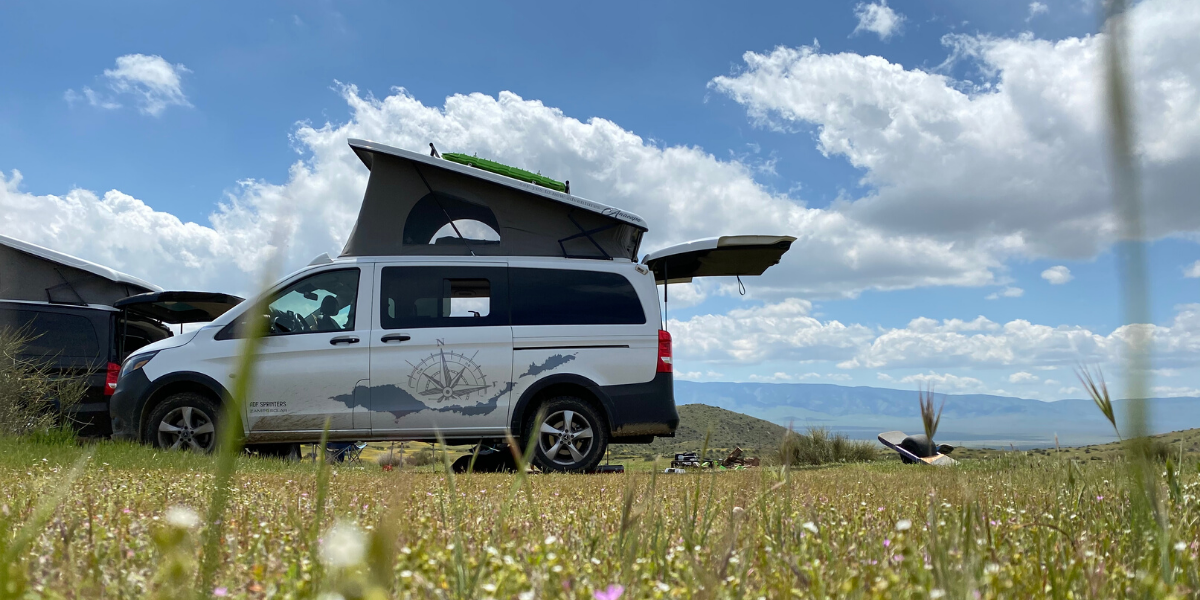 camper van on blm land