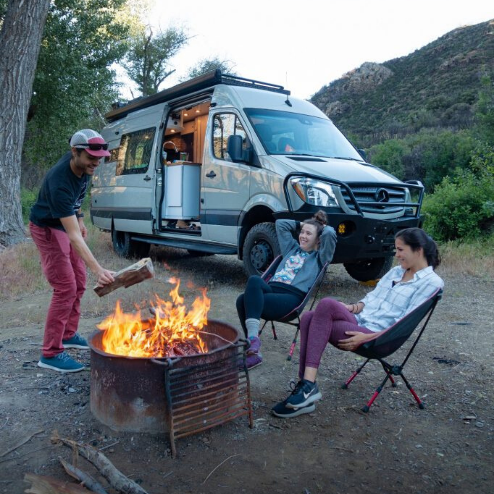 camping with a camper van