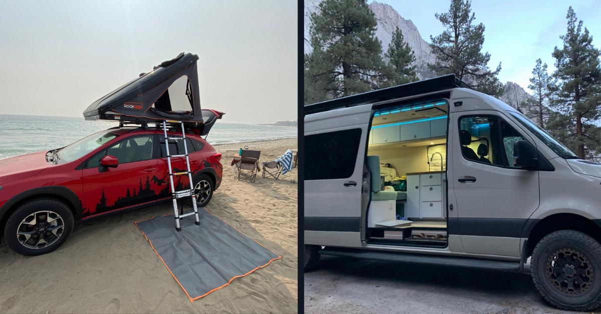 dispersed camping in a van